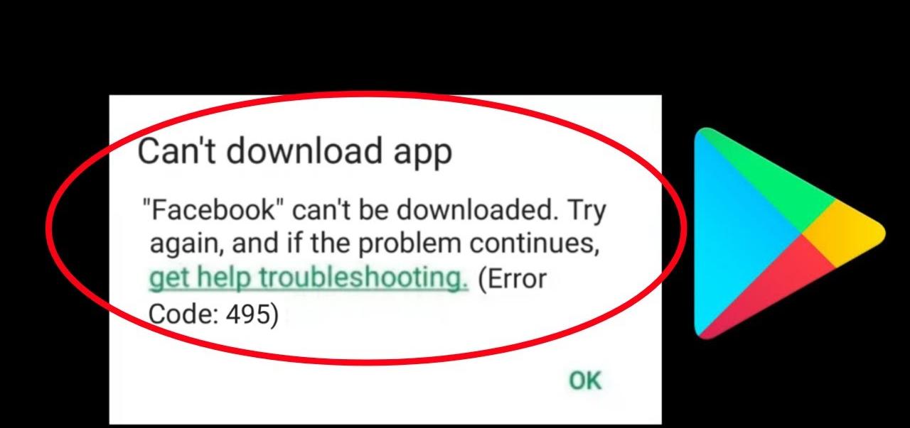 corregir el código de error 495 en Google Play Store