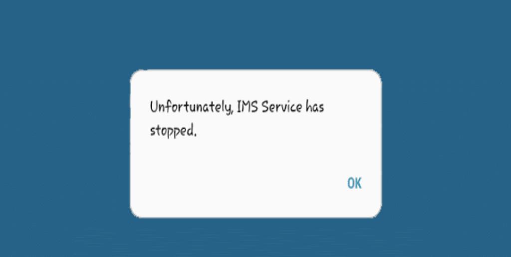 """solucionar """"Lamentablemente, el servicio IMS se ha detenido """""""