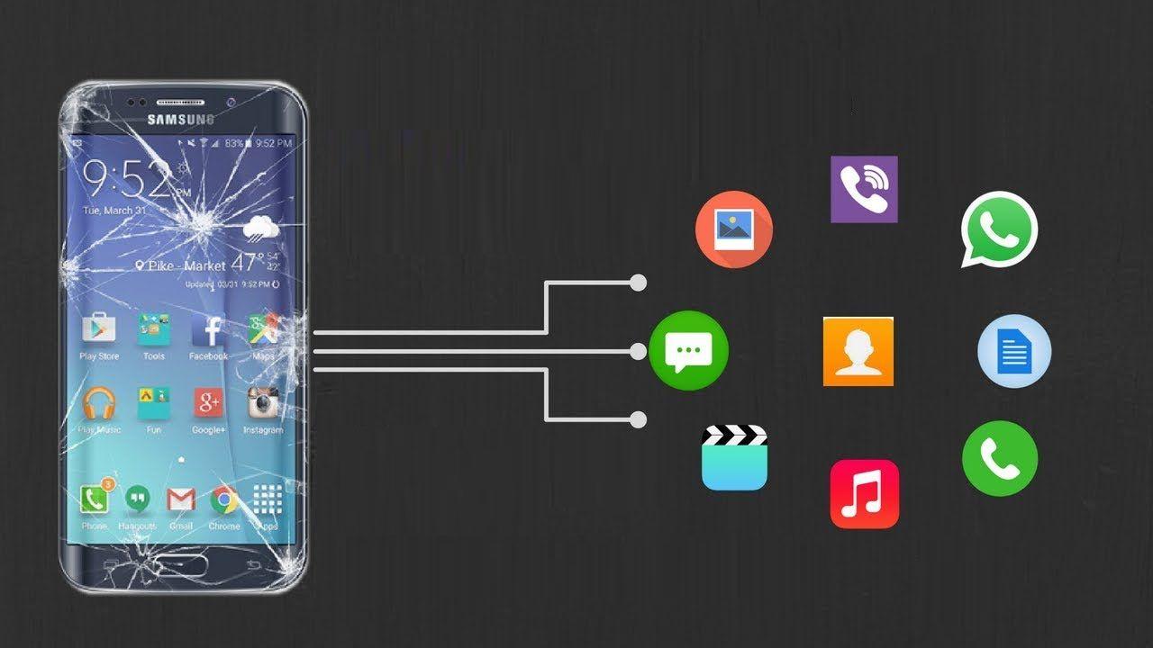 recuperarse Datos desde el teléfono Android Con pantalla rota