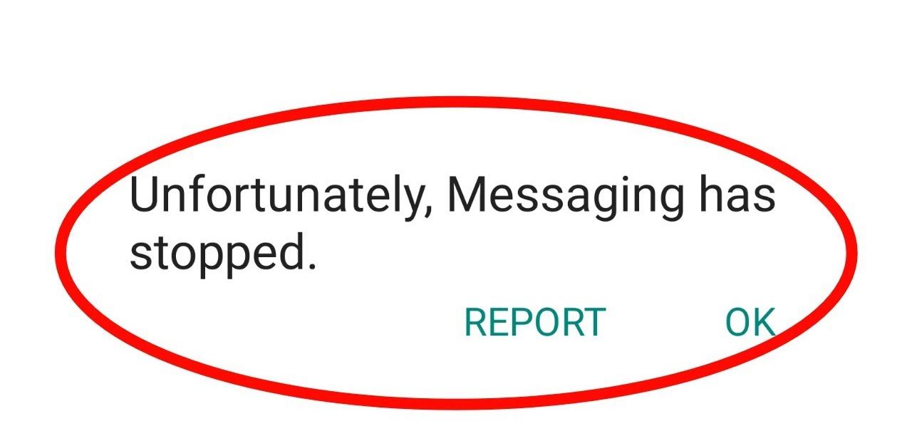 Arreglar desafortunadamente Mensajería se ha detenido En Android